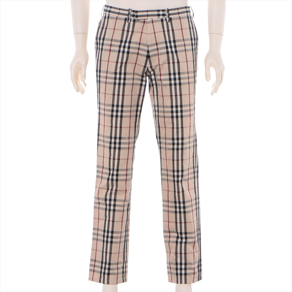 Burberry Black Label Nova Check Cotton Chinos 79 Men's Beige