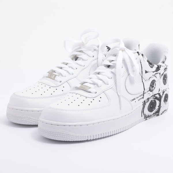 Comme des Garçonsx Nike Leather Sneakers JPN28 Men's White Supreme