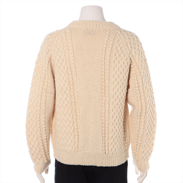 Inver Alan Wool Cardigan Men's Ivory Thick