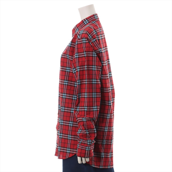Burberry Nova Check Cotton Shirt L Men's Red