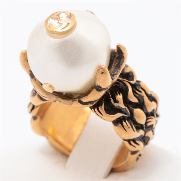 Gucci Ring Gold Platedx Pearl Gold