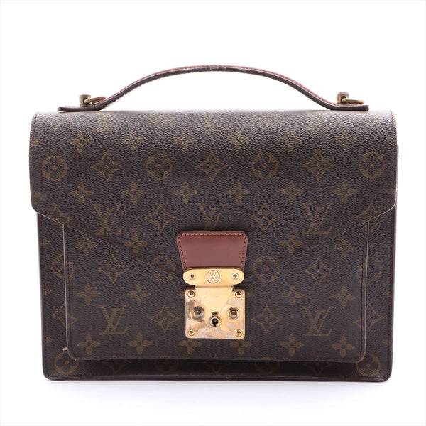 Louis Vuitton Monogram Monceau M51185 Pocket Strap Solid