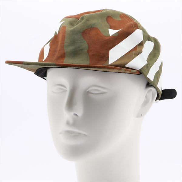 Off-white cap with cotton camouflage tag