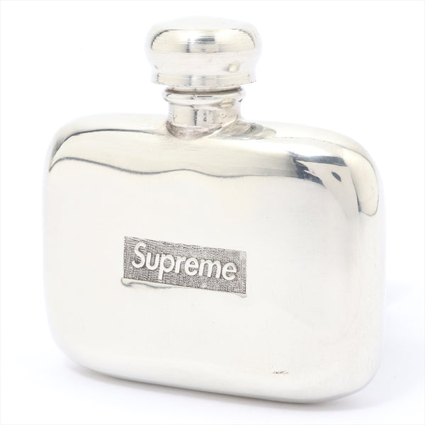 Supreme Bottle Metal Material Silver Whiskey Bottle