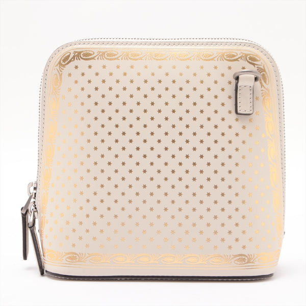 Gucci Leather Shoulder Bag White 511189 Gucci Print