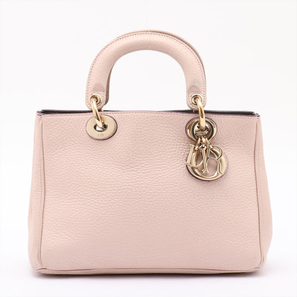 Christian Dior Diorissimo Leather 2WAY Shoulder Bag Pink
