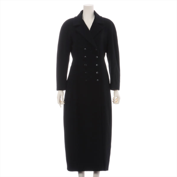 Chanel 99A Wool x Ka Stains Ya Long Coat 38 Ladies Black