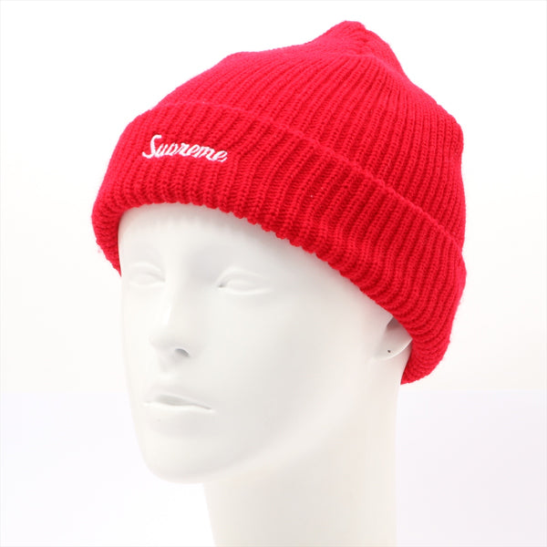 Supreme knit hat acrylic red