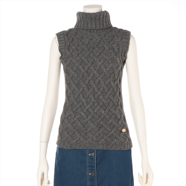 Gucci Camel Sleeveless Knit S Ladies Gray
