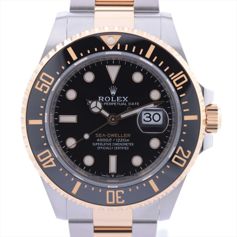 Rolex Sea-Dweller 126603 Stainless SteelxYG AT Black Dial