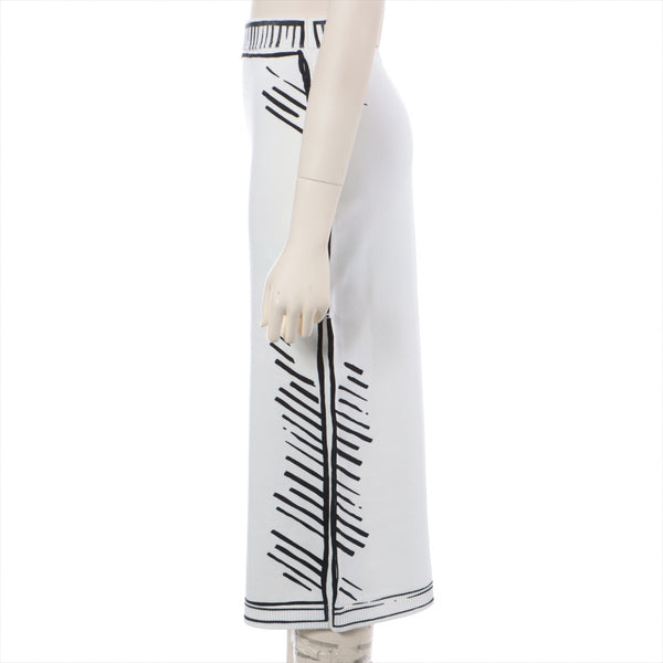 Fendi 20AW Rayon Skirt 40 Ladies White JOSHUA VIDES Collaboration