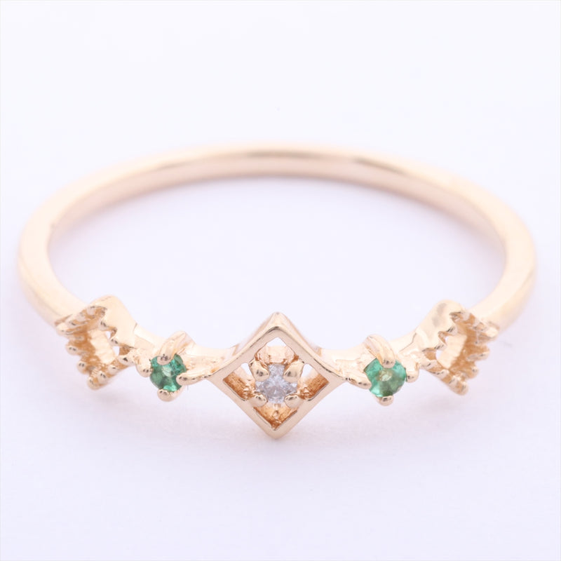 Ete ete diamond emerald pinky ring K10YG #3|RANK:A