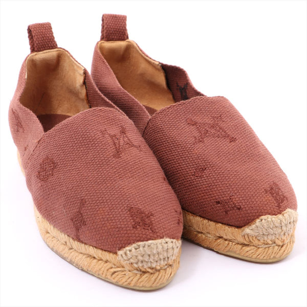 Hermes Canvas Espadrilles 36 Ladies Brown