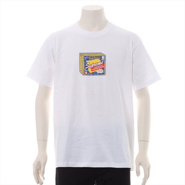 Supreme Cotton T-shirt M Men's White SUPREME Cheese Tee