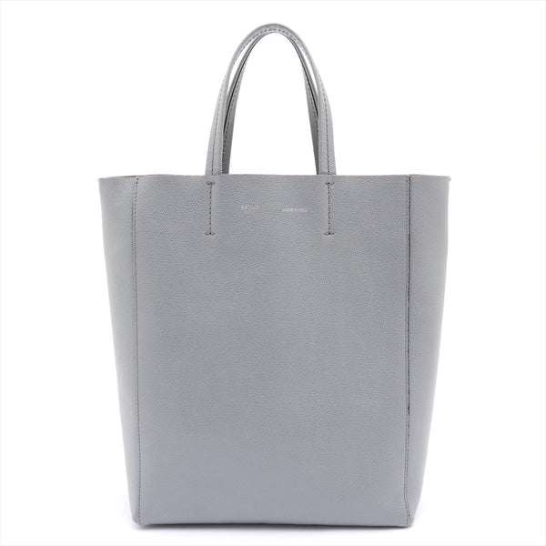 Celine Vertical Cabass Mall Leather 2WAY Shoulder Bag Gray|RANK:AB
