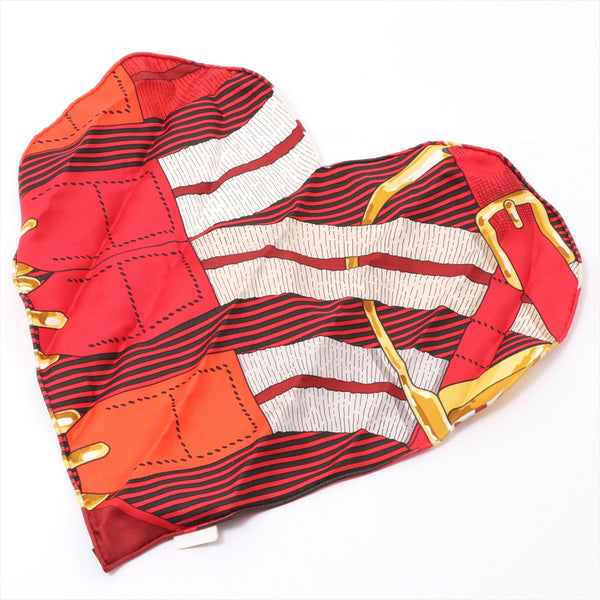 Hermes Handkerchief Silk Red