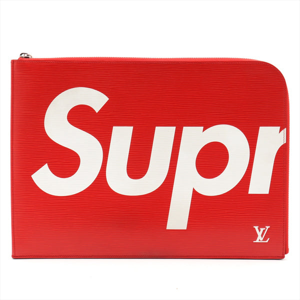Louis Vuitton x Supreme Epi Pochette Jules GM M67722 Red TN2107