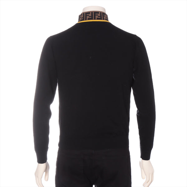 Fendi Zucca 20 Years Wool High Neck Knit 44 Men's Black|RANK:B