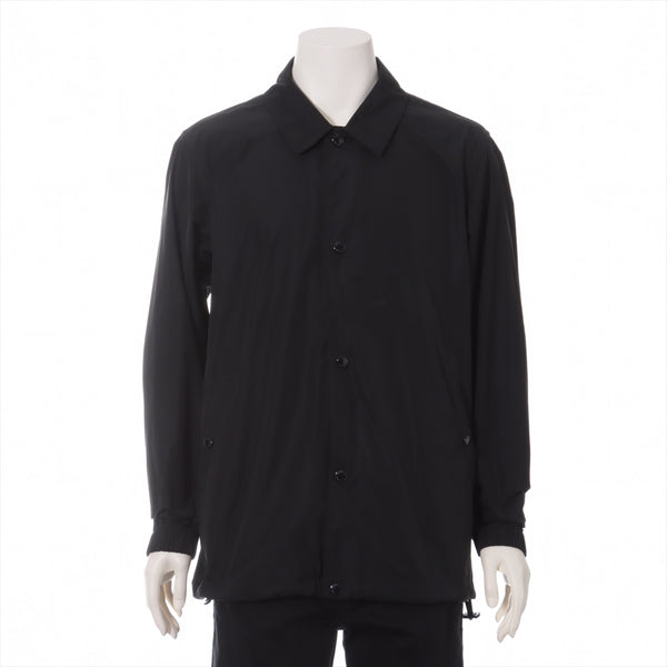 Burberry Polyester Coach Jacket 46 Men's Black Back Print