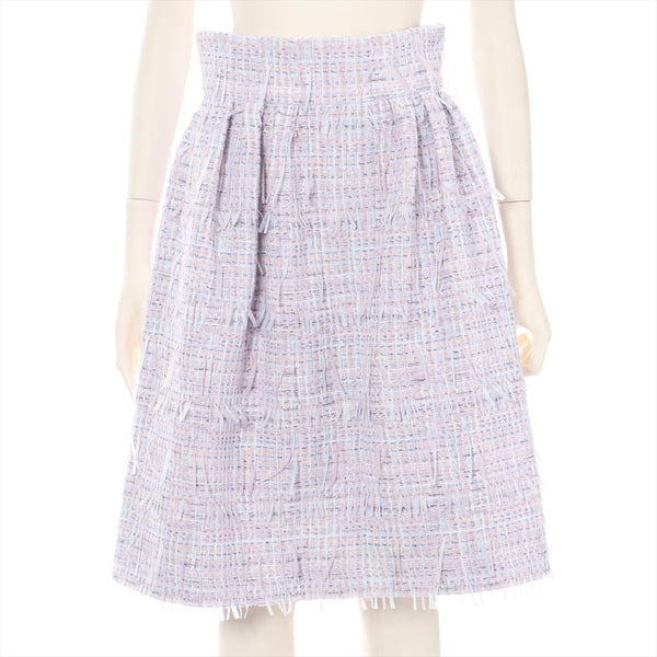 Chanel Tweed Skirt 38 Ladies Purple P58 18P