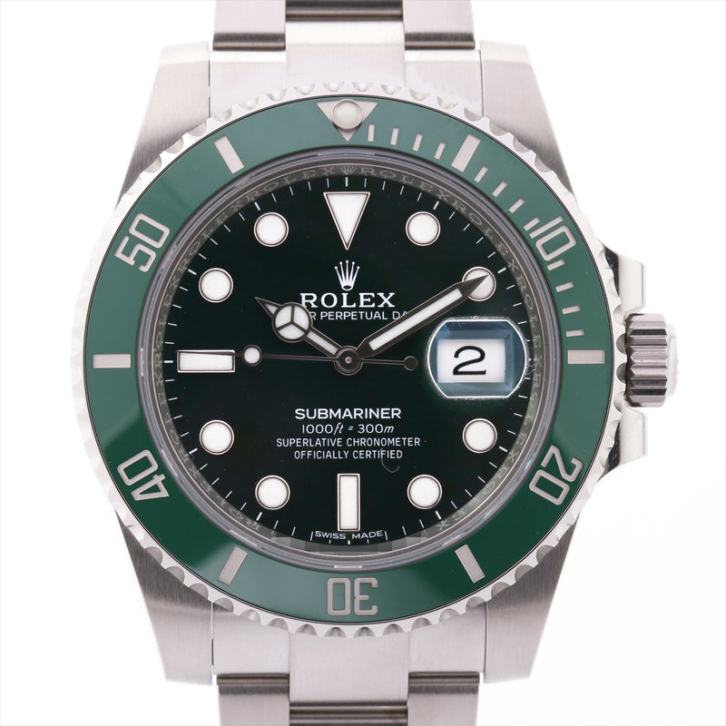 Rolex Green Submariner 116610LV SS AT Green Dial