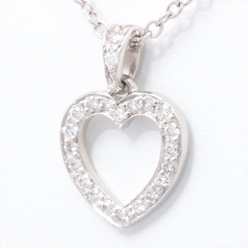 TIFFANY & Co. Metro Heart Diamond Necklace Pt950