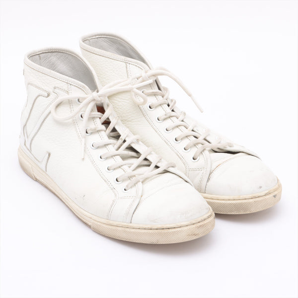 Louis Vuitton GO0049 Leather High Top Sneakers 6 Men's White