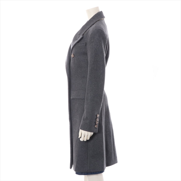 Burberry Wool Chester Coat 38 Mens Gray