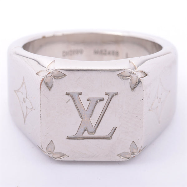 Louis Vuitton M62488 Signet Ring Monogram Ring L Gold Plated Silver