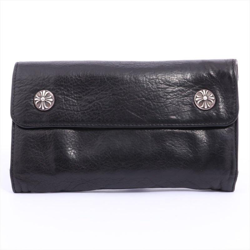 Chrome Hearts Wave Wallet Wallet Leather
