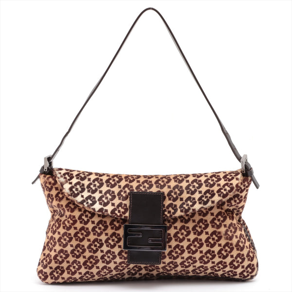 Fendi Mamma Bucket Harako Shoulder Bag Brown