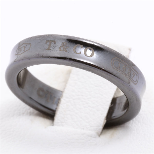 TIFFANY&Co. 1837 Narrow Ring No. 9 Titanium 2.3g Black