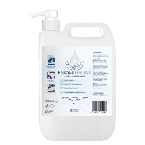70% Ethanol Hand Sanitiser Gel | 5L refilling all types of dispensers