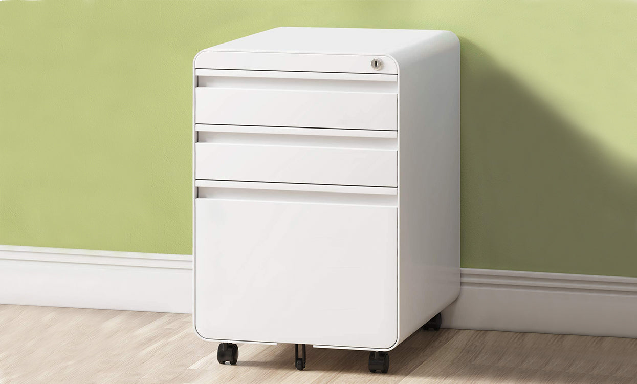Dripex 3 Drawer Mobile Vertical Filing Cabinet