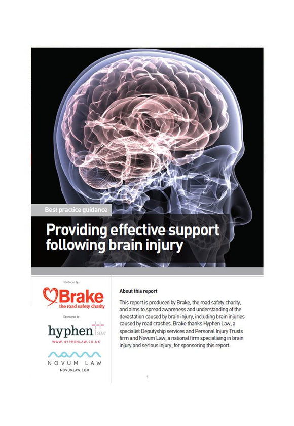 Providing effective support following a brain injury guidance report
