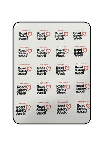 Road Safety Week Stickers (sheet of 24)