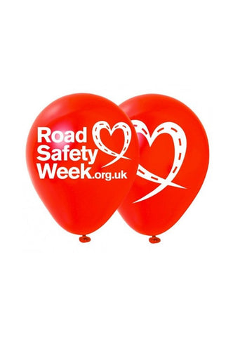 Road Safety Week balloons