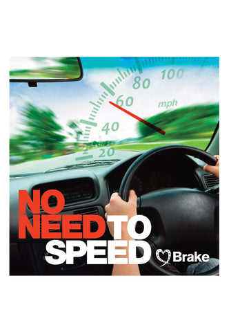 No need to speed leaflet