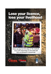 'Lose your licence' poster