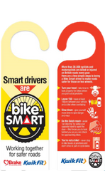 Road Safety Week 'Bike Smart' Hanger