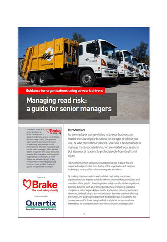 Managing road risk: a guide for senior managers