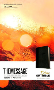 The Message DLX Gift Bible  LLok BLK/GRY MSG