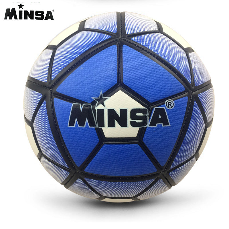 2018 MINSA Official Standard Soccer Ball Size 5 Training Futebol  Football Ball  futbol Match Voetbal Bal