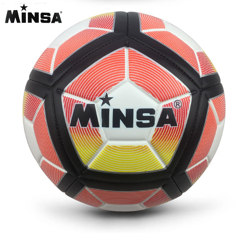 2018 New Brand MINSA PU Soccer Ball Official Size 5 Football Goal League Ball Outdoor Sport Training Balls futbol voetbal bola