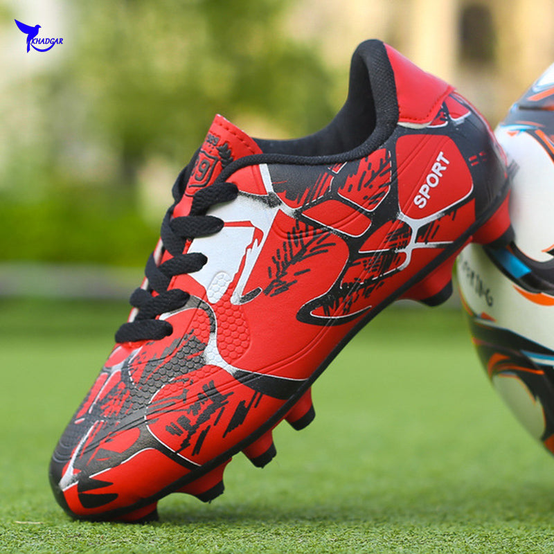 Size 31-36 Long Spikes Kids FG Soccer Shoes 2019 Child AG Football Boots Boys Girls Outdoor Lawn Training Sneakers Futsal Cleats