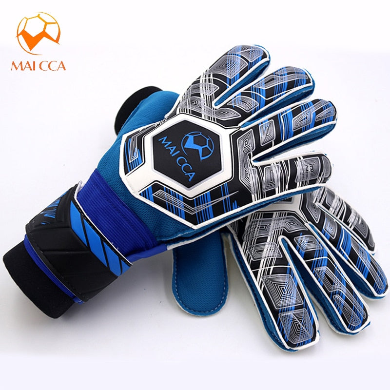Kids Junior Professional Soccer Goalkeeper Gloves Strong with 5 Finger Spines Goalie Gloves Save Protection Thicken Latex Foam