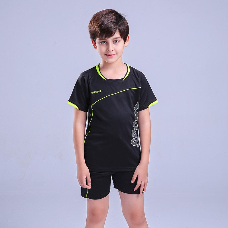 Kids Football Kits Sports Suit Boy's Jerseys Team Uniforms Soccer Training Sets Running Clothes Suits for Children Twins