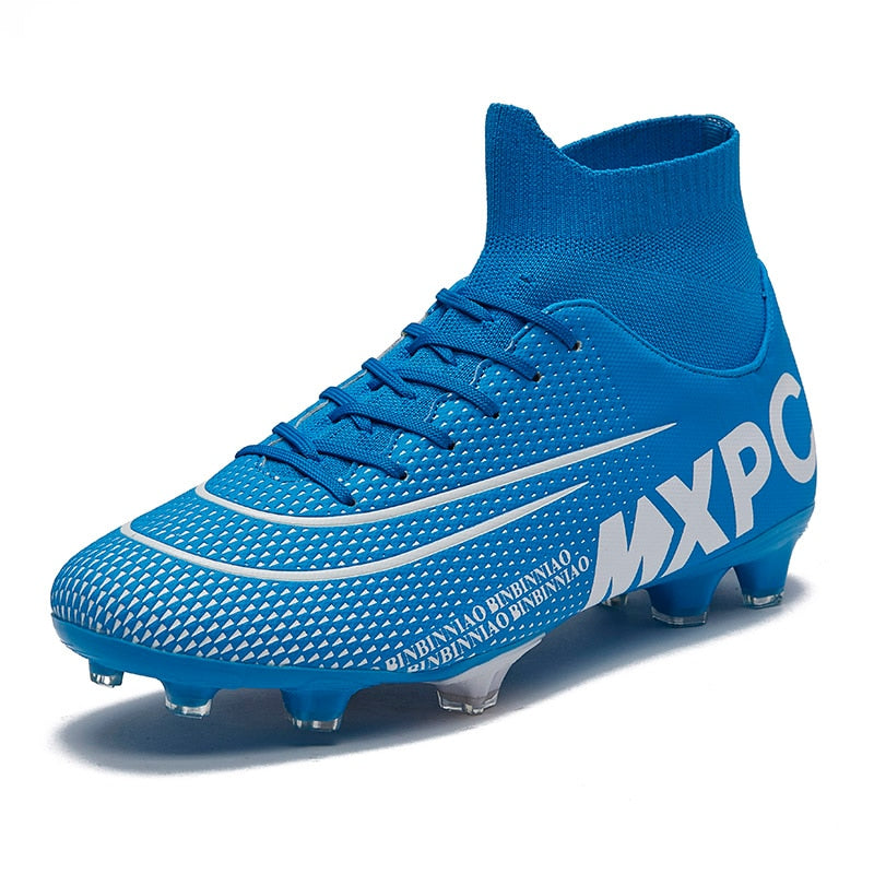 Sport Sneakers Size 35-45  Football Boots  Outdoor grassland Men Boys Soccer ShoesHigh Ankle Kids Cleats Training