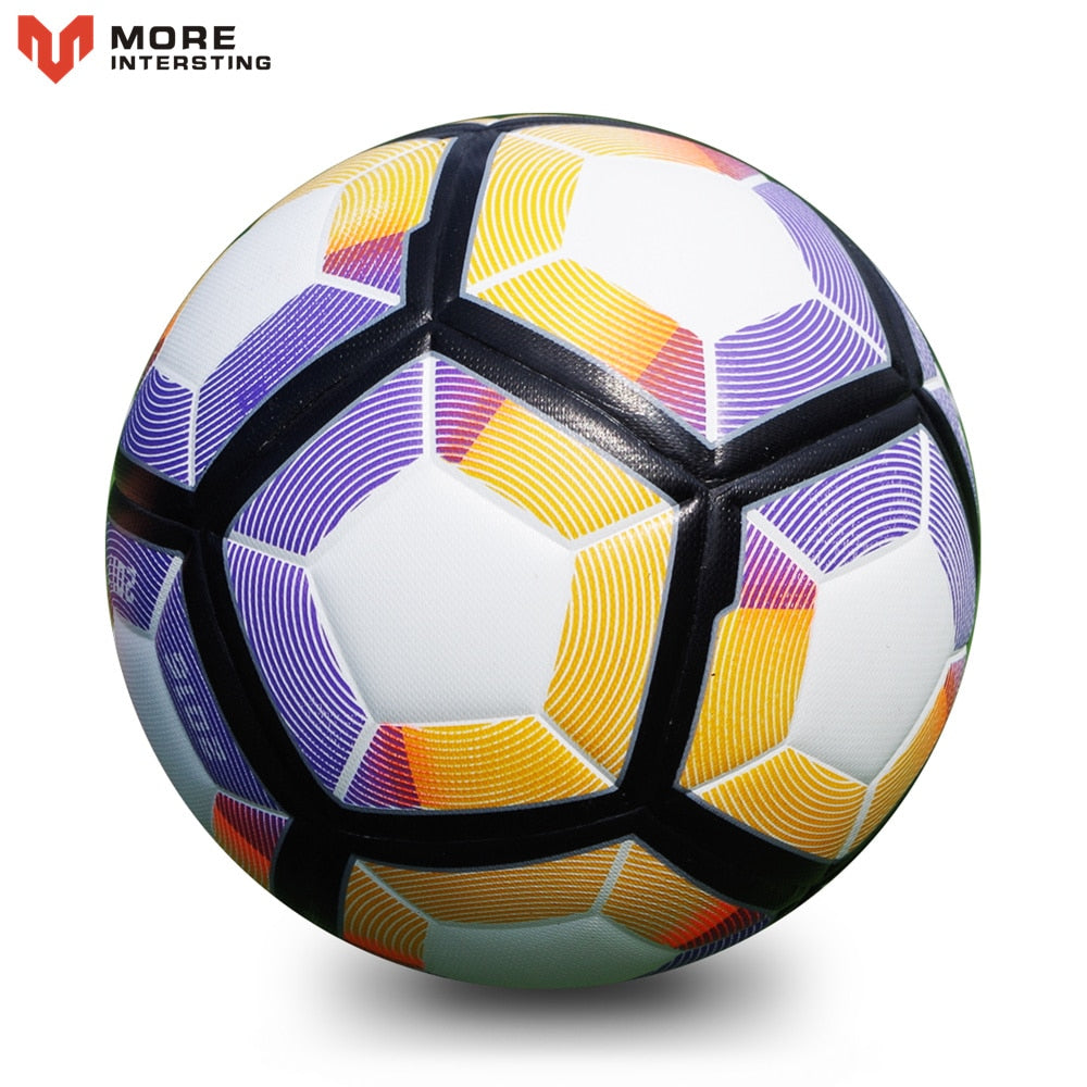 Hot 2018 Size 5 Soccer Seamless PU Football Ball Anti-slip Granules Soccer Ball High Quality For Game Match Training Youth Kids