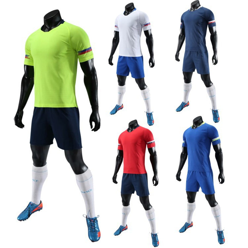 Football Jerseys Kids Men 2018 Soccer Jerseys Sets Blank Team Training Uniforms Suits Pocket Soccer Jerseys Set Sports Kit Print